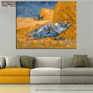 DPARTISAN Vincent Van Gogh rest from work pictures print Giclee wall Art Prints No frame wall painting for home living pictures