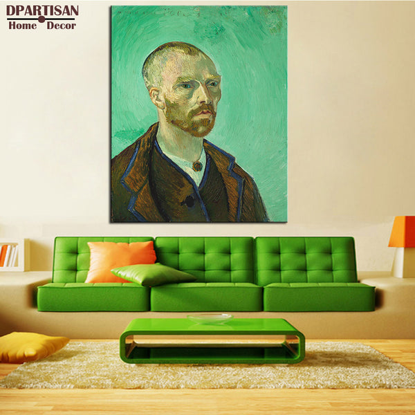 DPARTISAN Vincent Van Gogh slef portrait print Giclee wall Art Prints No frame wall painting for home living pictures art
