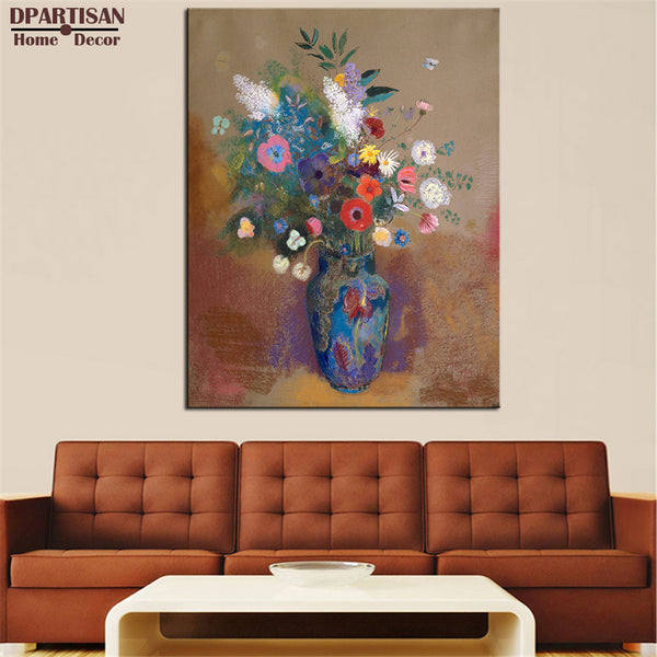 DPARTISAN PIERRE AUGUSTE RENOIR Grande Vaso di Fiori  print CANVAS WALL ART PRINT ON CANVAS OIL PAINTING no frame wall art decor
