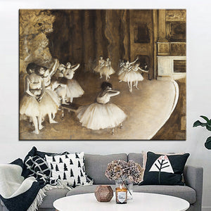 DP ARTISAN Ballet Rehearsal on Stage Wall painting print on canvas for home decor oil painting arts No framed wall pictures