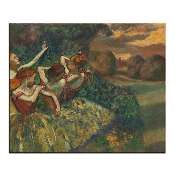 DP ARTISAN Four Dancers Wall painting print on canvas for home decor oil painting arts No framed wall pictures