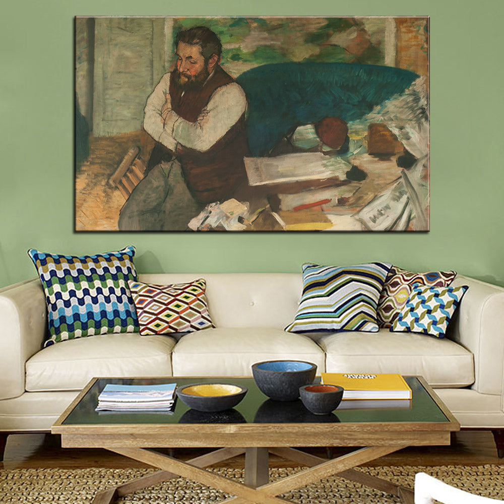 DP ARTISAN Retrato de Diego Martelli Wall painting print on canvas for home decor oil painting arts No framed wall pictures