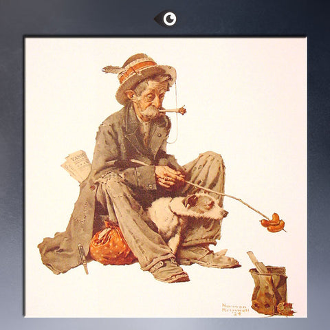 hobo-and-dog-1924 By NORMAN ROCKWELL oil Painting print on canvas for home decoration poster