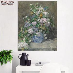 DPARTISAN PIERRE AUGUSTE RENOIR Spring Bouquet print CANVAS WALL ART PRINT ON CANVAS OIL PAINTING WALL PICTURES FOR LIVING DECOR