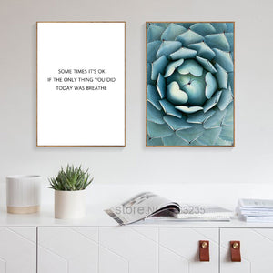 Flower Word Seawater Plant Posters And Prints Picture Painting Nordic Poster Canvas Pictures For Living Room Wall Art Unframed