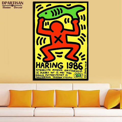 DPARTISAN Street Art  1986 Original Pop ART  GICLEE  poster oil painting print on canvas wall painting no frame wall pictures