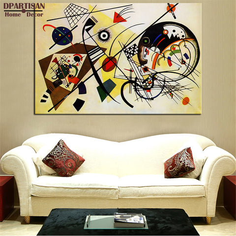 DPARTISAN WASSILY KANDINSKY Durchgehender Strich  Wall Painting picture leaf Home Decorative Art Picture Paint on Canvas Prints
