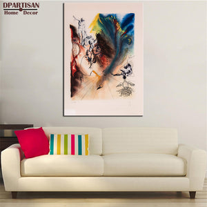 DPARTISAN Surrealism Signed L/E Lithograph MAD TEA PARTY from ALICE IN WONDERLAND SUITE no frame wall painting pictures
