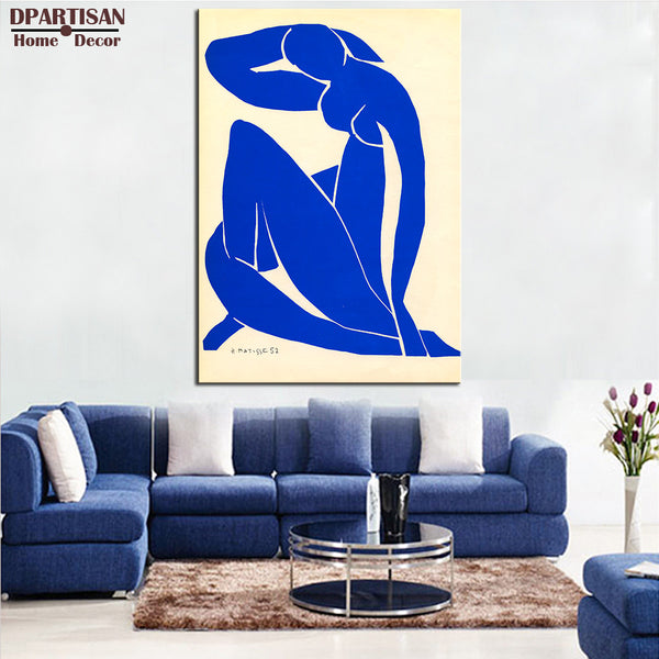 DPARTISAN blue nude Giclee  poster art print By Impressionism print Wall oil Painting picture print on canvas No frame wall arts