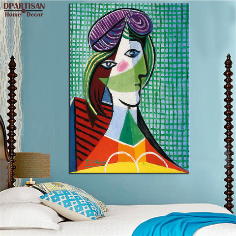 DPARTISAN Cubism Art Estate Signed Numbered Te te de Femme P13 Giclee wall Art Abstract Canvas Prints No frame wall painting