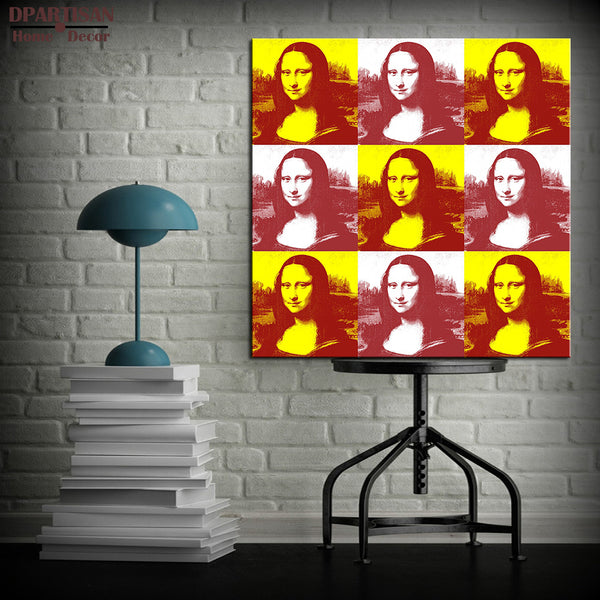DPARTISAN study mono lisa nine portrait pop print Giclee wall Art Abstract Canvas Prints picture No frame wall painting