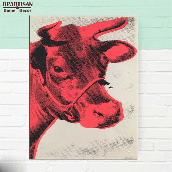 DPARTISAN Study Cow c1966 Yellow and Pink Others pop art print Wall Painting picture Home abstract Decorative Art Picture