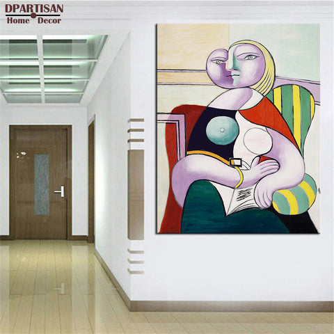 DPARTISAN Cubism Art  Estate Signed  Numbered Reading P8 Giclee wall Art Abstract Canvas Prints No frame wall painting