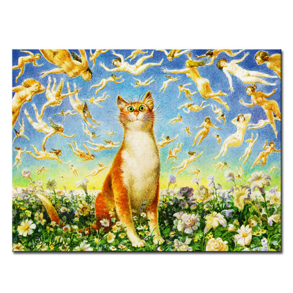 Vladimir Rumyantsev so much cat world oil painting wall Art Picture Paint on Canvas Prints wall painting no framed