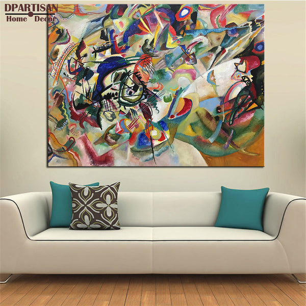 DPARTISAN Composition VI wall pictures for Impressionism Art lines Giclee P7 Giclee wall Art Abstract Canvas Prints no frame art
