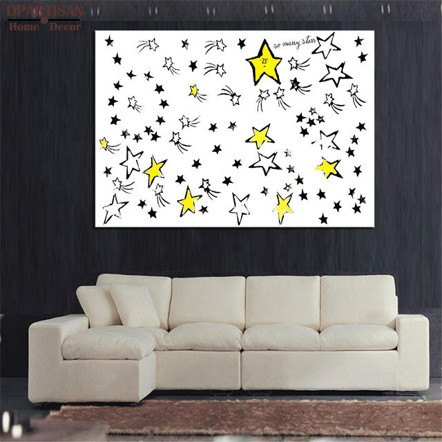 DPARTISAN so many stars wall painting By study oil painting POP Art Print on canvas for wall Art Picture no frame arts