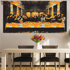 DPARTISAN last supper By study oil painting POP Art Print on canvas for wall decoration poster colorful huge art no frame