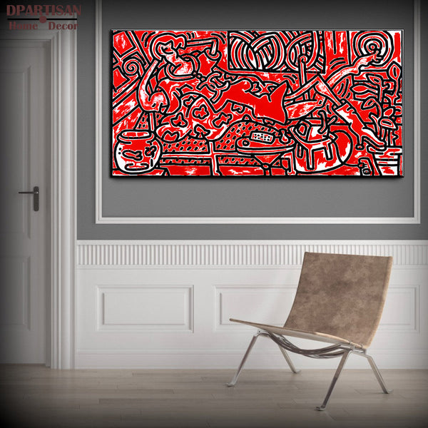 DPARTISAN Street Art red and black Pop ART GICLEE oil painting Prints on canvas No frame  wall Pictures Decor Living Room