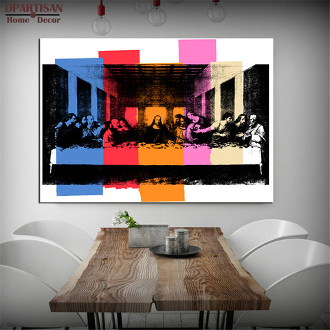 DPARTISAN Study DETAIL OF THE LAST SUPPER, C.1986 pop art print Wall Painting picture Home Decor Art no frame pictures