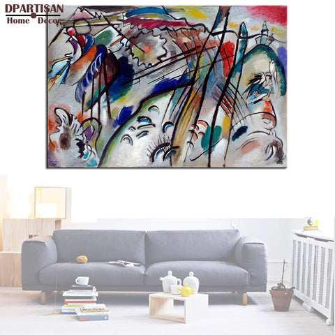 DPARTISAN Improvisation 28 wall pictures by Impressionism Art Giclee wall Art Abstract Canvas Prints no frame posters and print