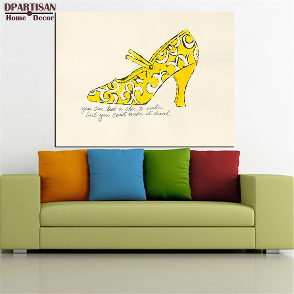 DPARTISAN study pop shoes arts wall pictures oil painting print canvas top idea decor wall art for wall painting no frame