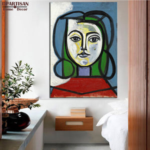 DPARTISAN Cubism Art  Estate Signed  Numbered girls P3 Giclee wall Art Abstract Canvas Prints No frame wall painting