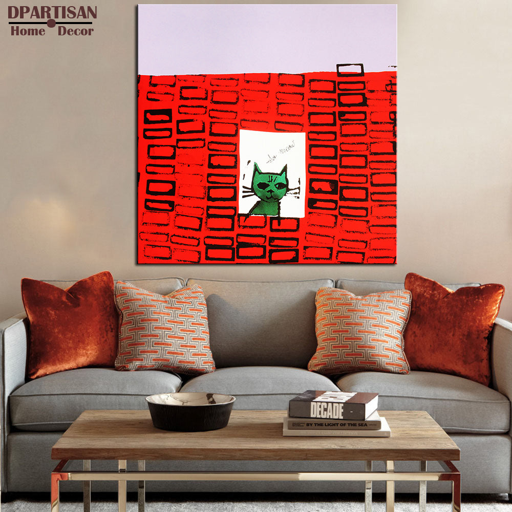 DPARTISAN Study So Meow c 1958 pop art print Wall Painting picture Home abstract Decorative Art Picture no frame wall arts