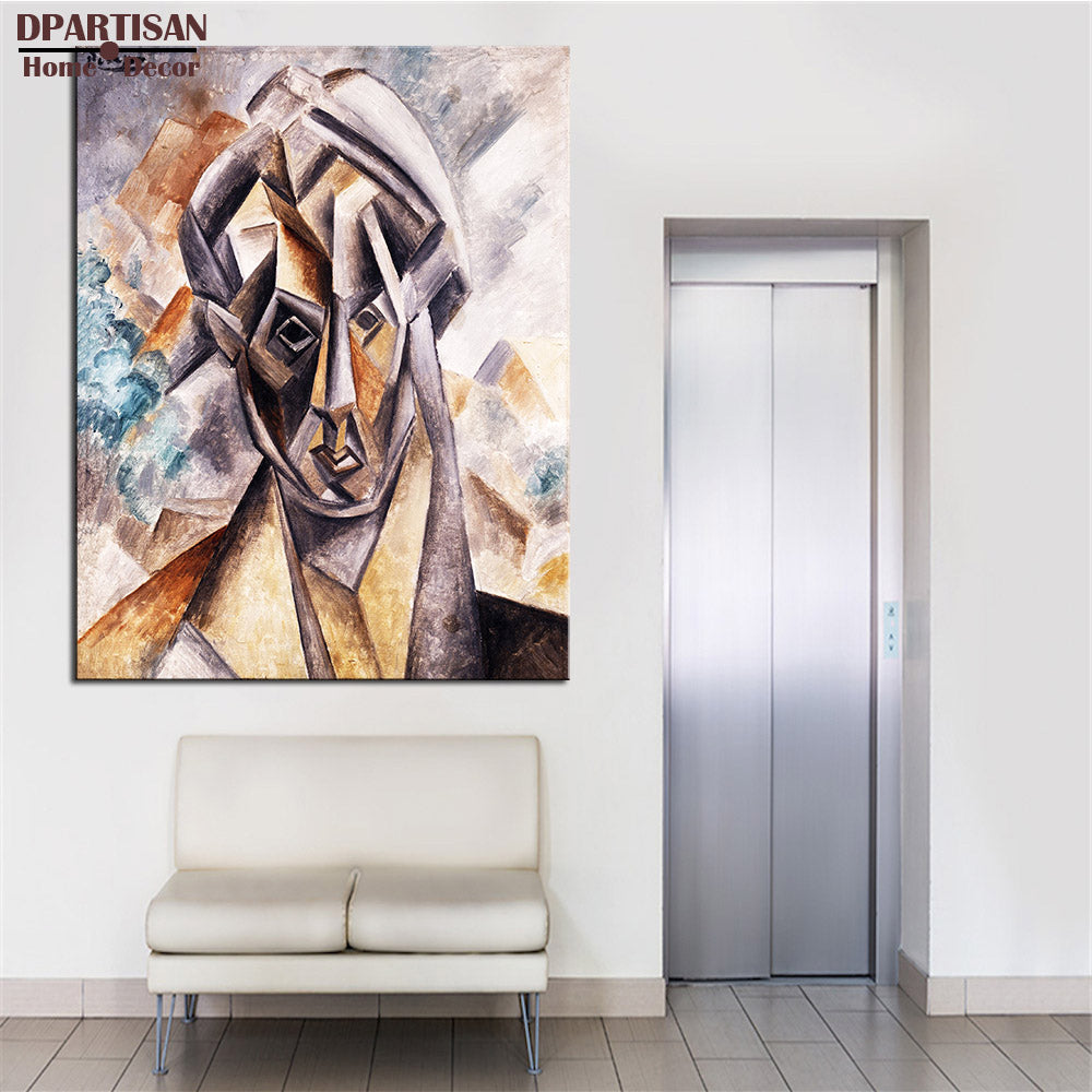 DPARTISAN Cubism Art  Estate Signed  Numbered Head of Woman P6 Giclee wall Art Abstract Canvas Prints No frame wall painting