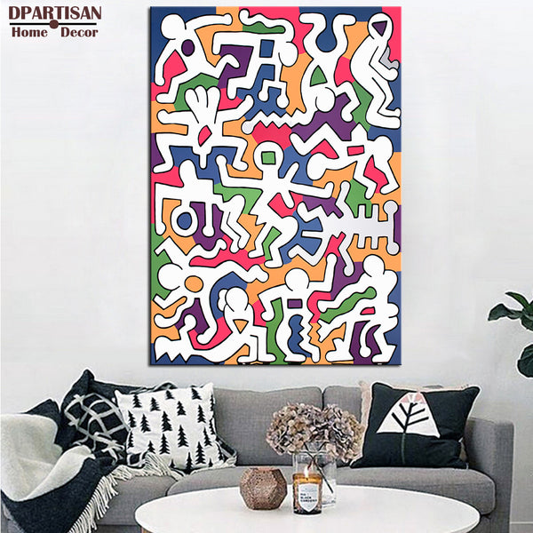 DPARTISAN Street Art Original Pop ART  GICLEE poster print on canvas wall painting pictures no frame home decoration arts