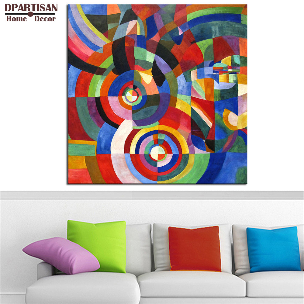 DPARTISAN Impressionism Art circle wall pictures ws3 Giclee wall Art Abstract Canvas Prints No frame wall painting posters print