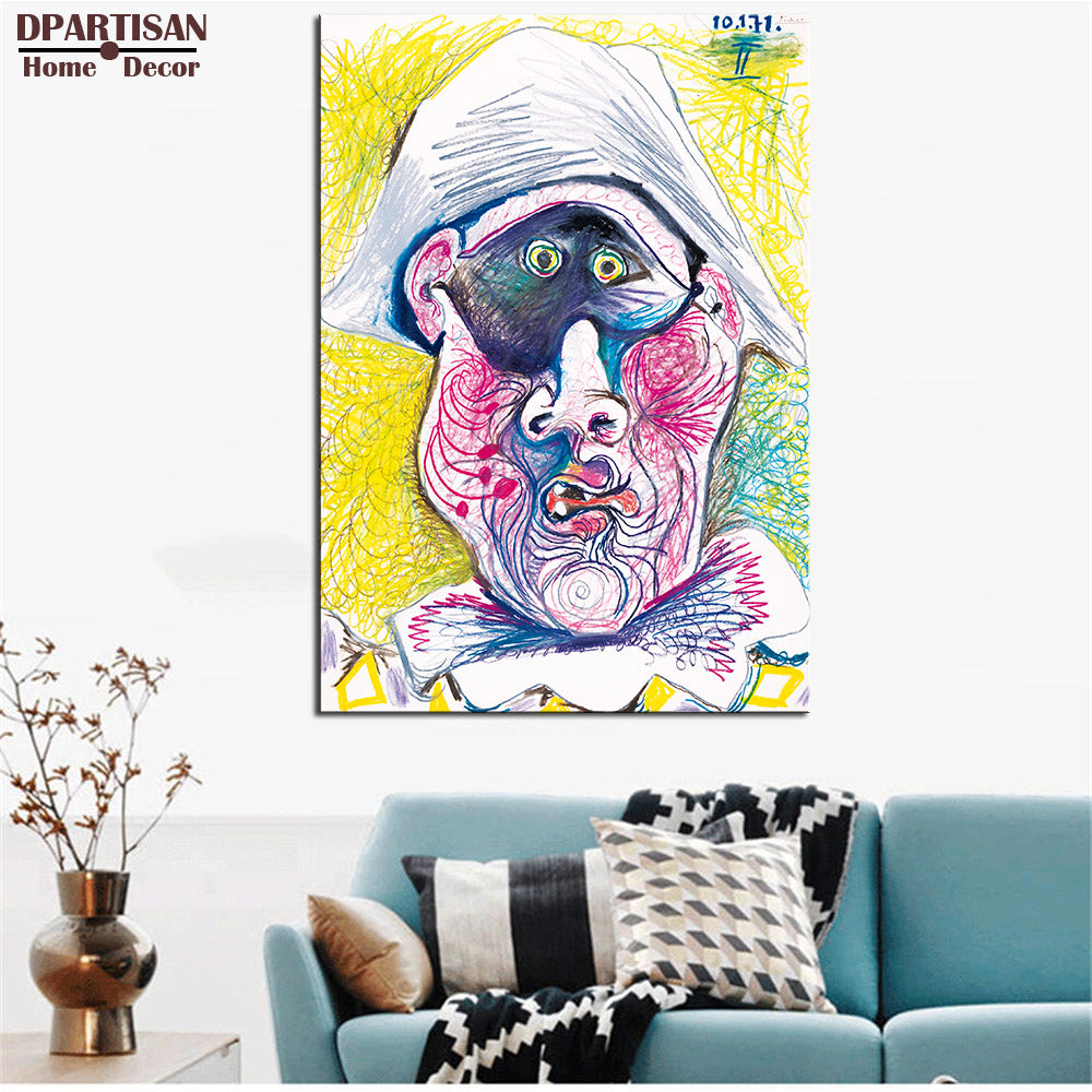 DPARTISAN Cubism Art Estate Signed Numbered self portrait Giclee wall Art Abstract Canvas Prints No frame wall painting