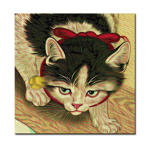 Vladimir Rumyantsev watching cat world oil painting wall Art Picture Paint on Canvas Prints wall painting no framed
