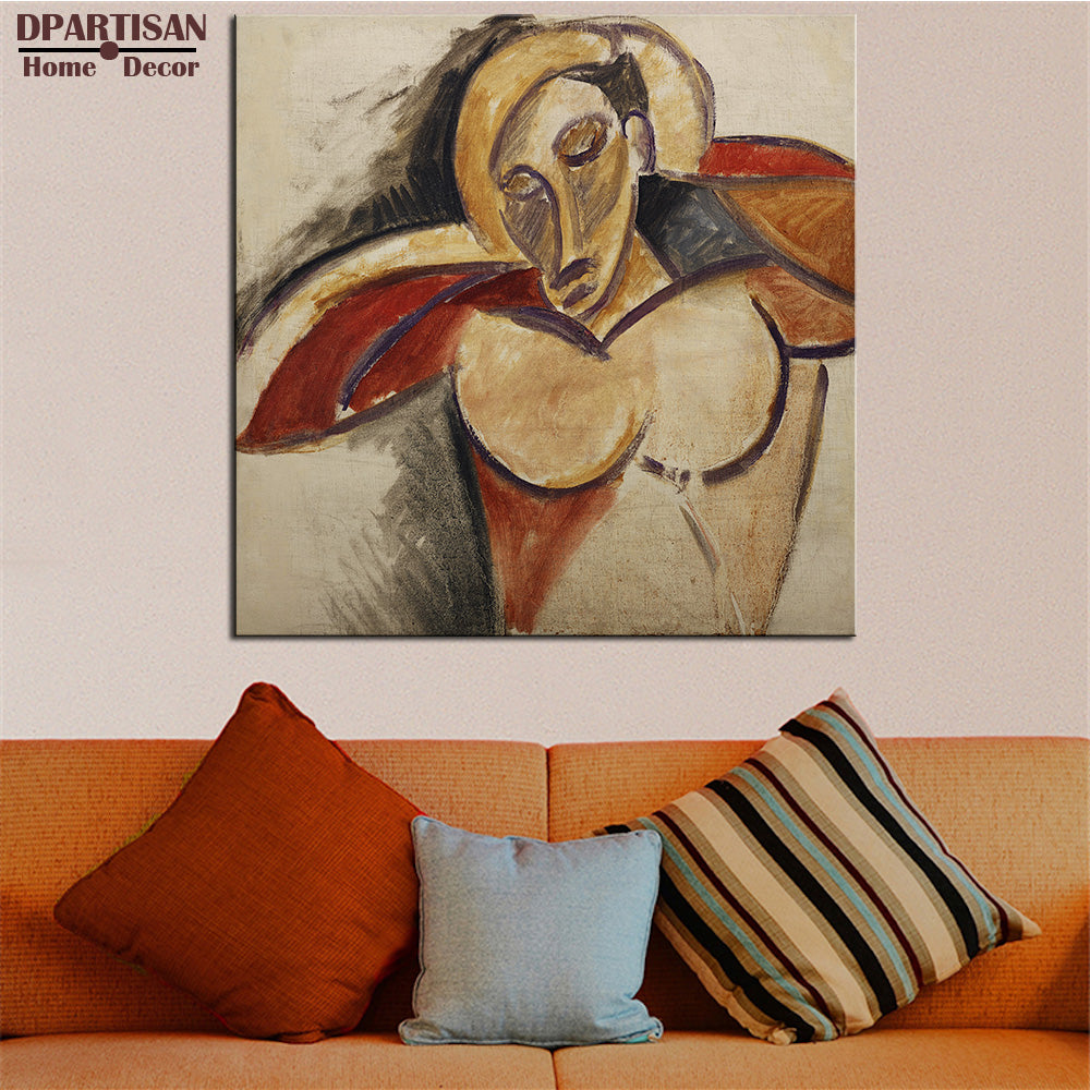 DPARTISAN Cubism Art Estate Signed Numbered portrait cubic P16 Giclee wall Art Abstract Canvas Prints No frame wall painting