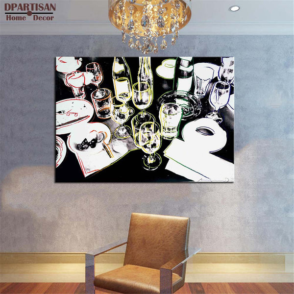 DPARTISAN study drink art wall pictures creative oil painting print canvas top ideawall art for wall painting no frame
