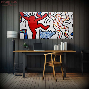DPARTISAN Street Art Original Pop ART -21 GICLEE oil painting Prints on canvas No frame  wall Pictures Decor Living Room