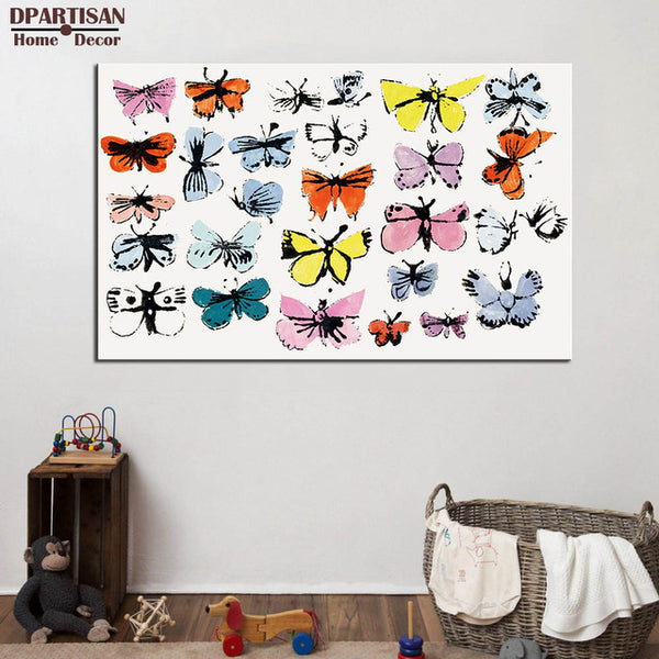 DPARTISAN Butterflies c1980 wall pictures By study POP Art Print poster on canvas for wall painting no frame arts