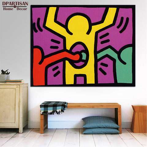 DPARTISAN pop shop 1987  Giclee poster pop art print By street art  picture print on canvas no  frame wall art for home decor