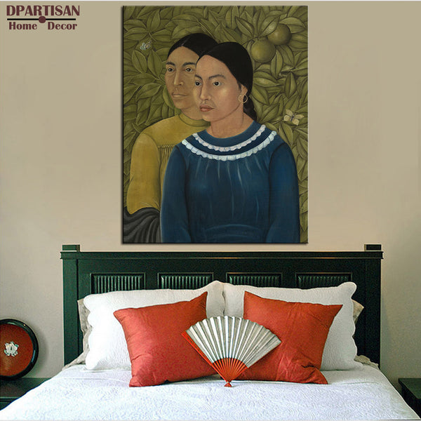 DPARTISAN two women 1929 Naive Art Wall painting canvas for wall art decoration oil painting picture NO FRAME Home Printed ART
