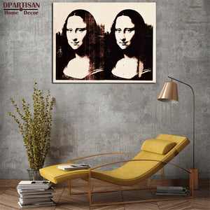 DPARTISAN Double Mona Lisa 1963 By study POP Art Print poster on canvas for wall painting picture No framed Wall arts