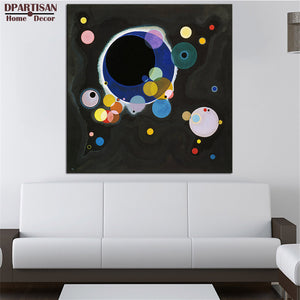 DPARTISAN Impressionism Art Several circles wall pictures Giclee wall Art Abstract Canvas Prints No frame wall painting posters