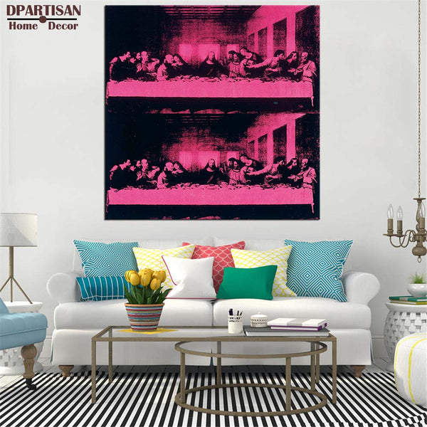 DPARTISAN last supper wall painting By study POP Art Print poster on canvas for wall decoration no frame wall picture arts
