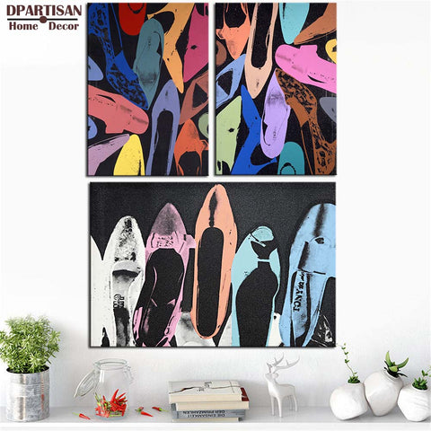 DPARTISAN Diamond Dust Shoes c1980 wall pictures By andy warhol POP Art Print poster on canvas for wall painting no frame arts