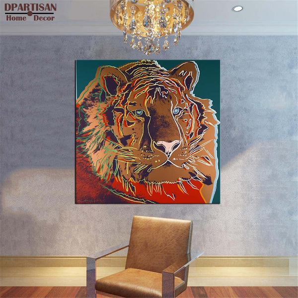 DPARTISAN study tiger animal oil painting POP Art Print on canvas for wall decoration poster wall painting no frame arts