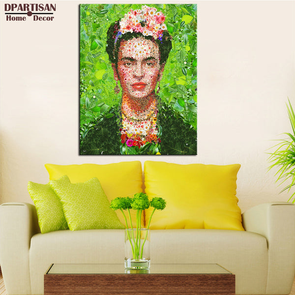 DPARTISAN frida with leaf Portrait Wall painting canvas for wall art decoration oil painting wall painting picture No framed ART