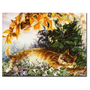 Vladimir Rumyantsev find the cat world oil painting wall Art Picture Paint on Canvas Prints wall painting no framed