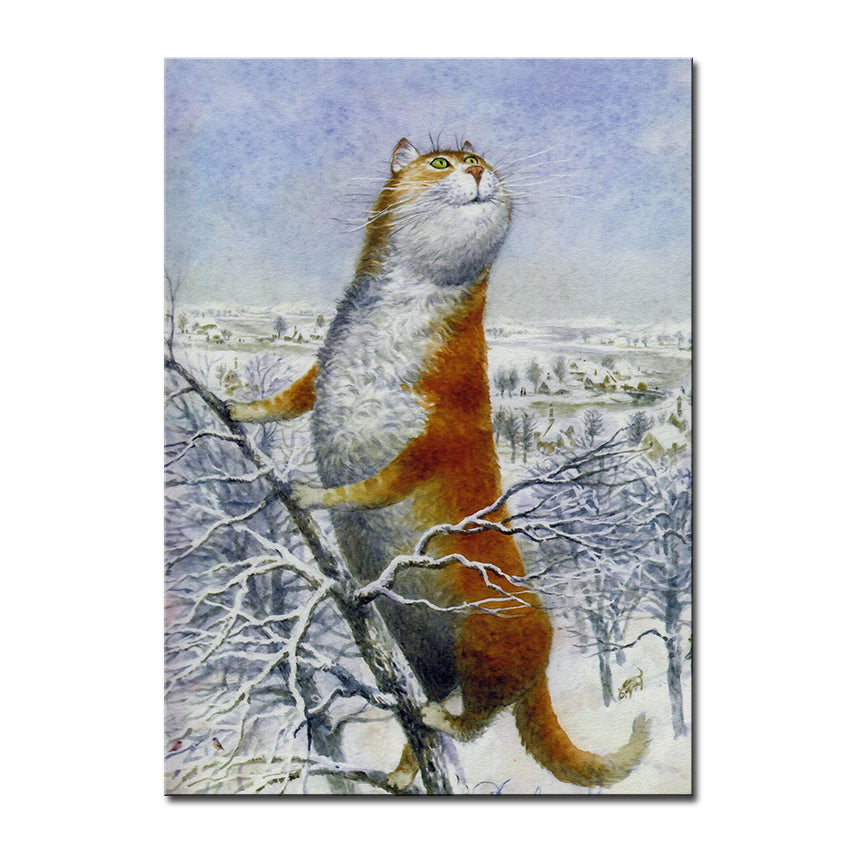 Vladimir Rumyantsev see right cat world oil painting wall Art Picture Paint on Canvas Prints wall painting no framed