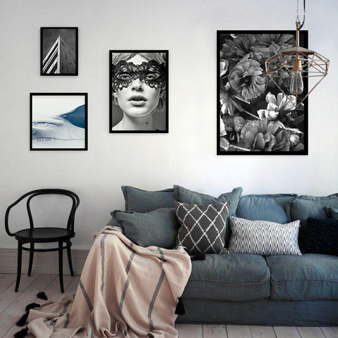 Posters And Prints Canvas Pictures For Living Room Wall Art Canvas Painting Art Print Picture Nordic Decoration No Poster Frame