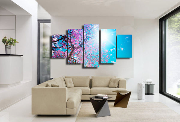 HD Printed leto sakura solnce luchi Painting Canvas Print room decor print poster picture canvas Free shipping/NY-5899