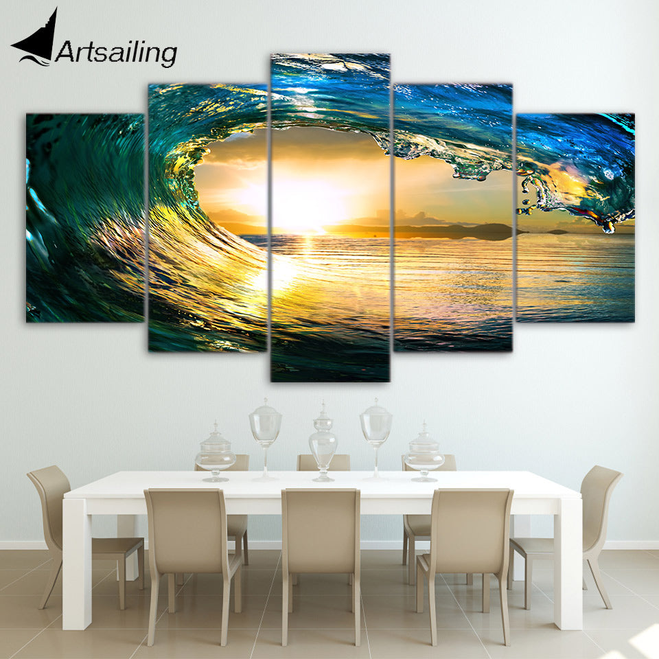 HD Printed tropical paradise ocean sea Group Painting room decor print poster picture canvas Free shipping/ny-1437
