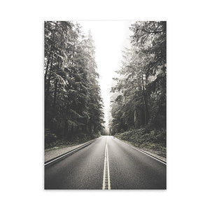 900D Marble Canvas Art Print Painting Poster, Forest Landscape Wall Pictures for Home Decoration Wall Decor NOR040